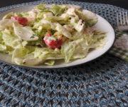 Antipasti-Salat mit Knoblauch