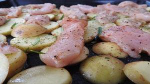 Backkartoffeln mit Pute und Käse (roh) auf Kochen-verstehen.de