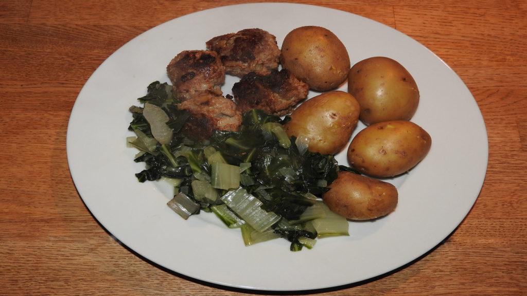 Bouletten mit Kartoffeln und Mangold auf Kochen-verstehen.de