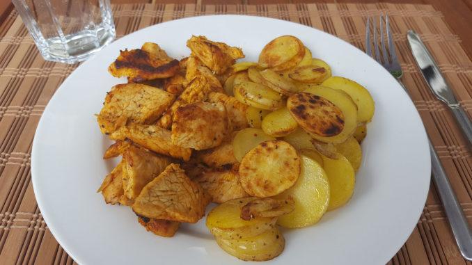 Bratkartoffeln mit Pute auf Kochen-verstehen.de