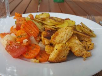 Bratkartoffeln mit Pute und Kaisergemüse auf Kochen-verstehen.de