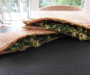 Dinkel-Maultaschen mit Lachs-Spinatfüllung