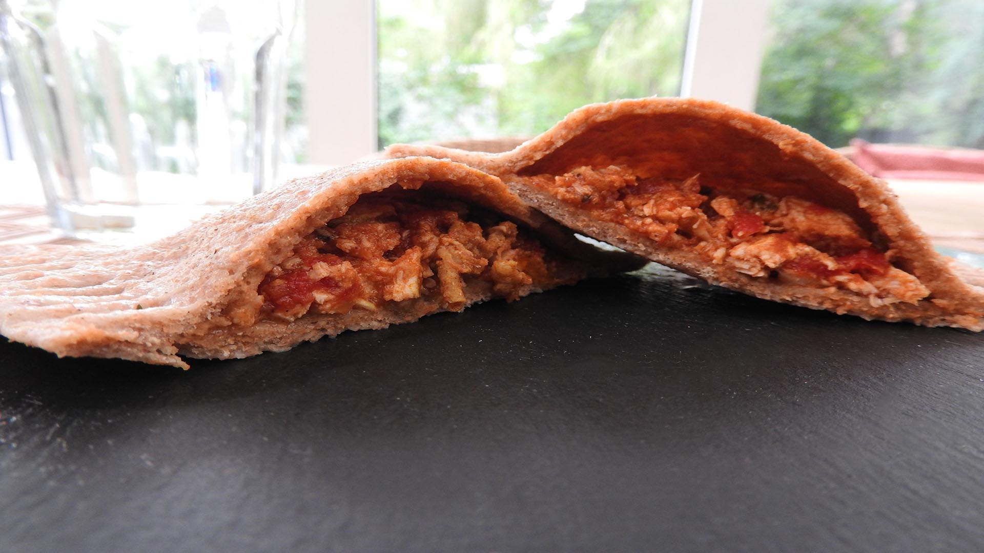 Dinkel-Maultaschen mit Tomatenfüllung