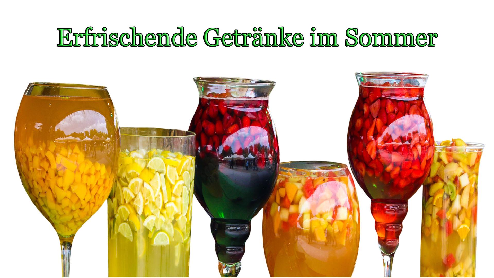 Erfrischende Getränke im Sommer | Kochblog auf Kochen-verstehen.de