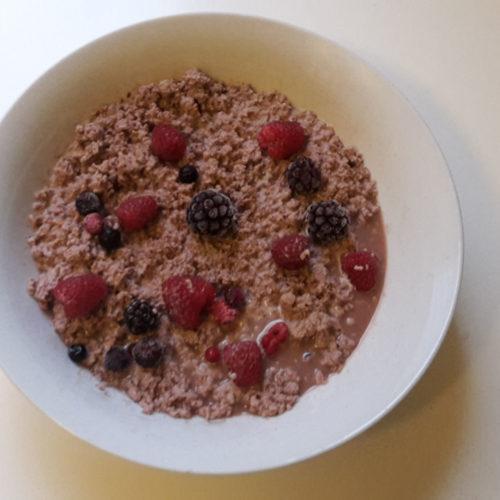 Früchte-Rührei mit Schokosauce (Rezept mit Bild) auf Kochen-verstehen.de