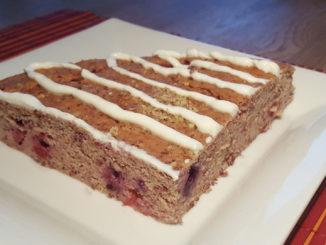 Früchtekuchen mit Magerquarktopping auf Kochen-verstehen.de