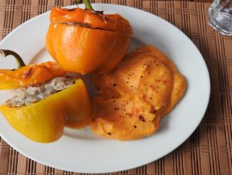Gefüllte Paprika mit Süßkartoffelbrei auf Kochen-verstehen.de