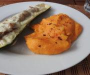 Gefüllte Zucchini mit Süßkartoffelbrei