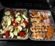 Grillhähnchen mit Gemüse