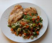 Hähnchen mit Reis und Suppengemüse