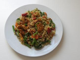 Hähnchen-Gemüsepfanne mit Reis (Rezept mit Bild) auf Kochen-verstehen.de
