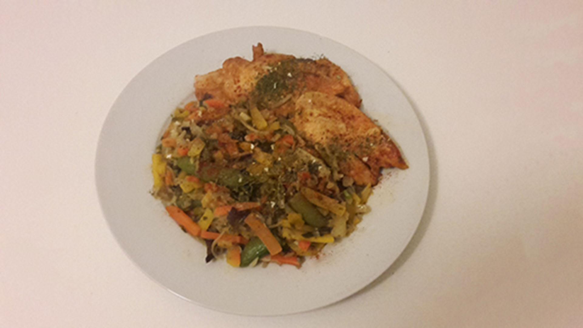 Hähnchen mit asiatischem Gemüse