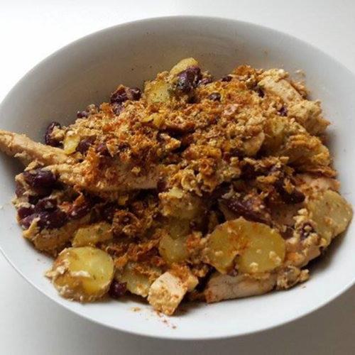 Kartoffeln mit Hähnchen und Ei (Rezept mit Bild)   Kochen-verstehen.de