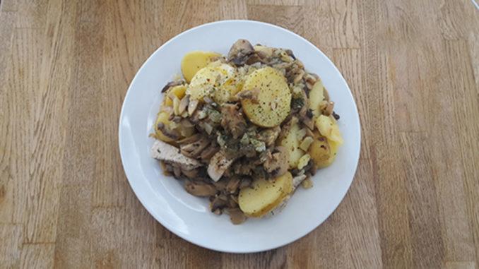 Hähnchen mit Kartoffeln und Pilzen (Rezept mit Bild) auf Kochen-verstehen.de