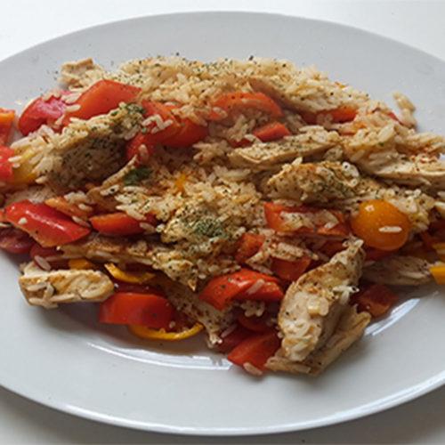 Hähnchen mit Reis und Cherrytomaten (Rezept mit Bild) auf Kochen-verstehen.de