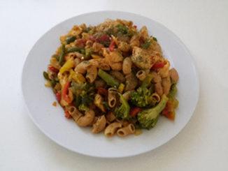 Hähnchenbrust mit Paprika und Vollkornnudeln (Rezept mit Bild) auf Kochen-verstehen.de