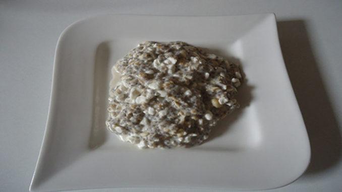 Haferflocken mit Chia-Samen und Frischkäse auf Kochen-verstehen.de