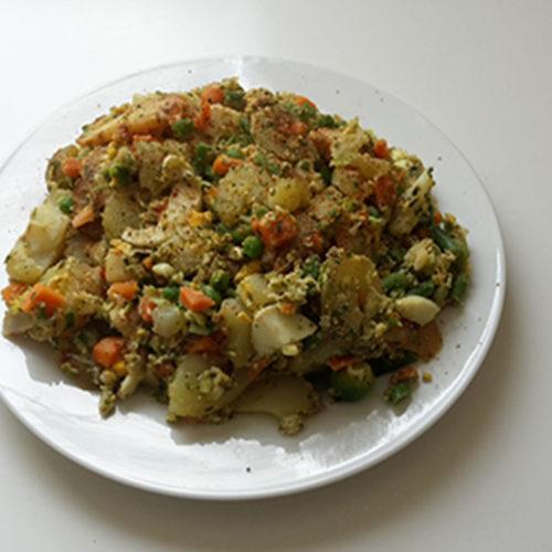 Kartoffel-Rührei mit italienischem Gemüse (Rezept mit Bild) auf Kochen-verstehen.de
