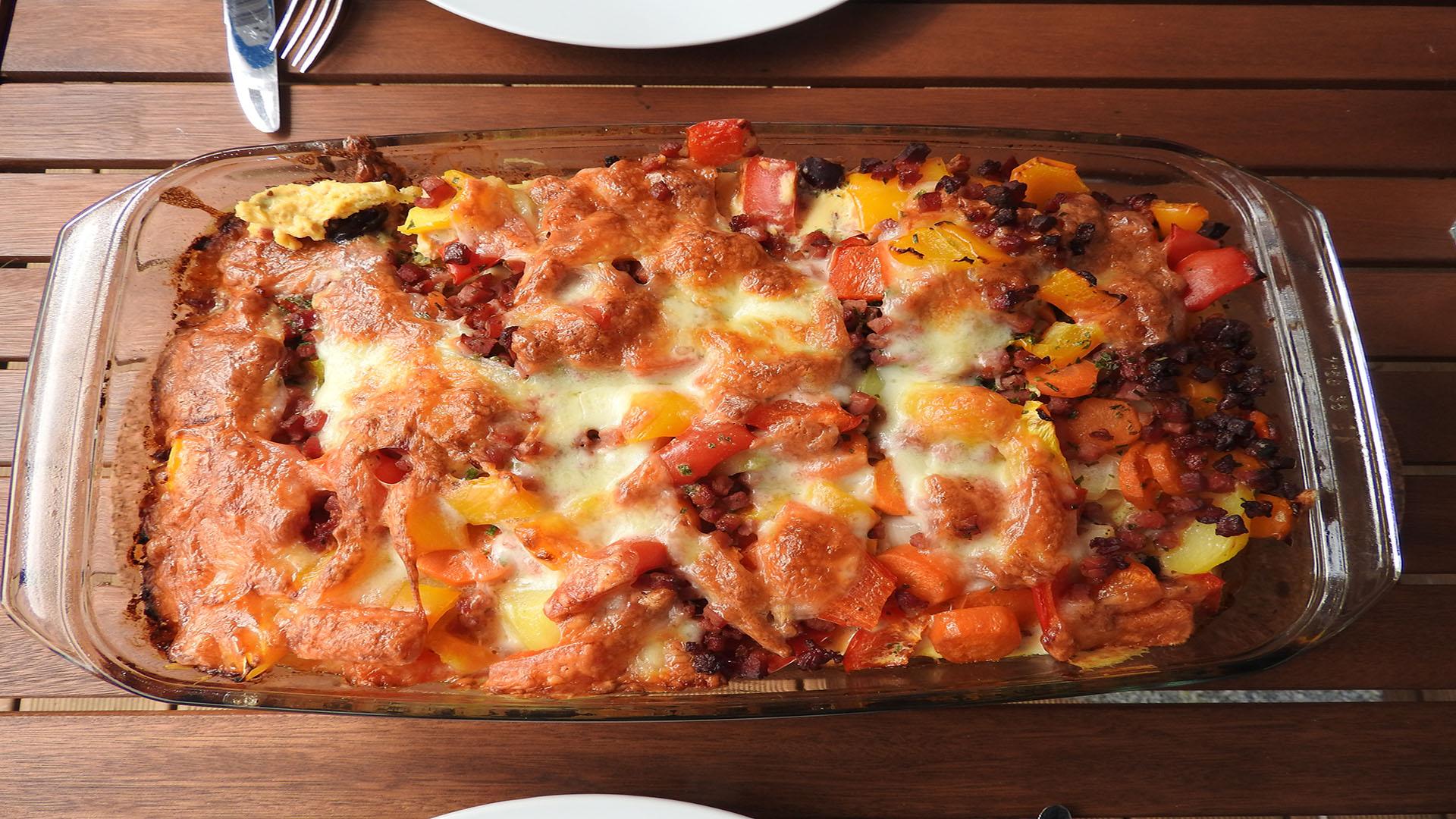 Kartoffelauflauf mit Ei und Paprika auf Kochen-verstehen.de