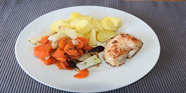 Kartoffeln mit Pute und Gemüse