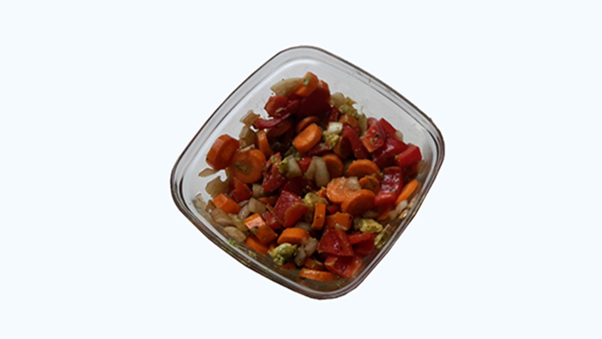 Kleiner Gemüsesalat