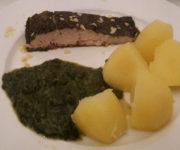 Lachs Provence mit Spinat und Kartoffeln