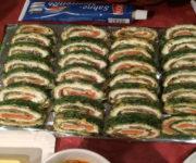 Lachsrolle mit Frischkäse und Spinat