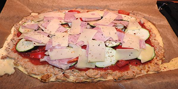 Low Carb Pizza Schritt 2
