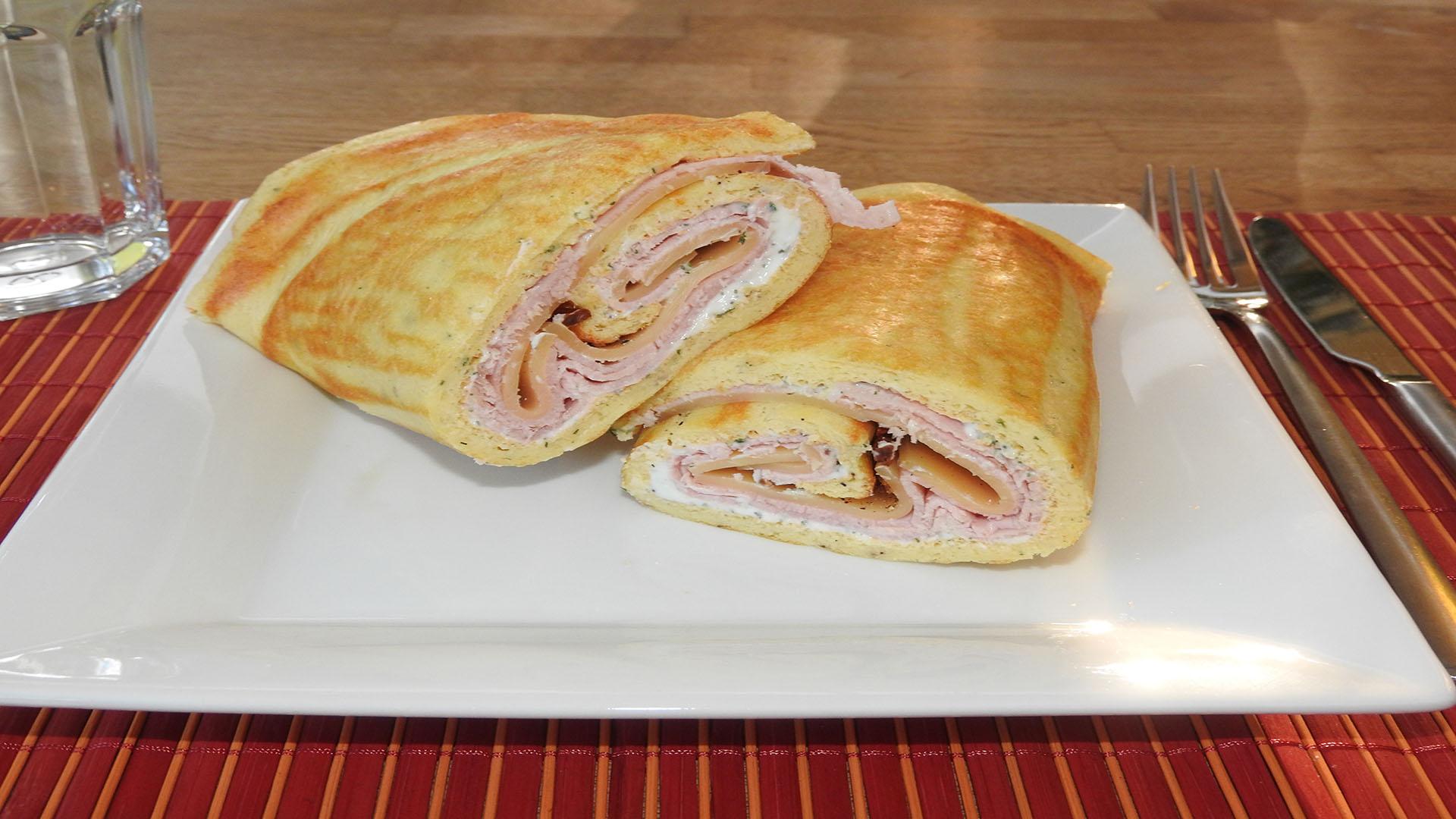 Low Carb Wrap mit Schinken auf Kochen-verstehen.de