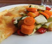 Omelett mit Backgemüse