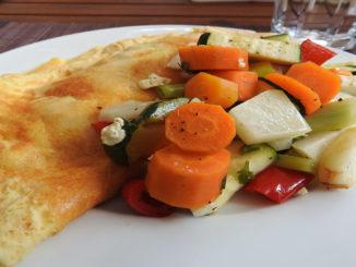 Omlett mit Backgemüse auf Kochen-verstehen.de