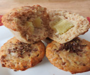 Protein-Muffins mit Bananenfüllung
