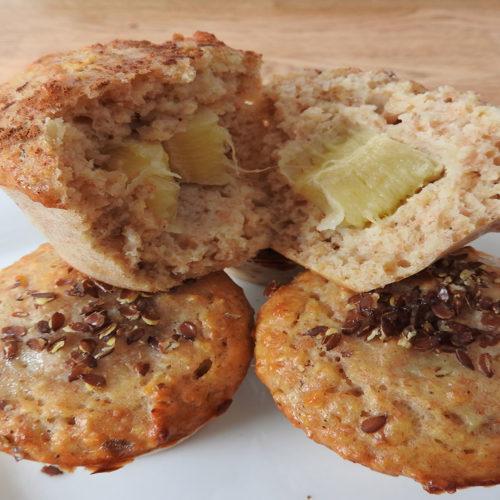 Protein-Muffins mit Bananenfüllung auf Kochen-verstehen.de
