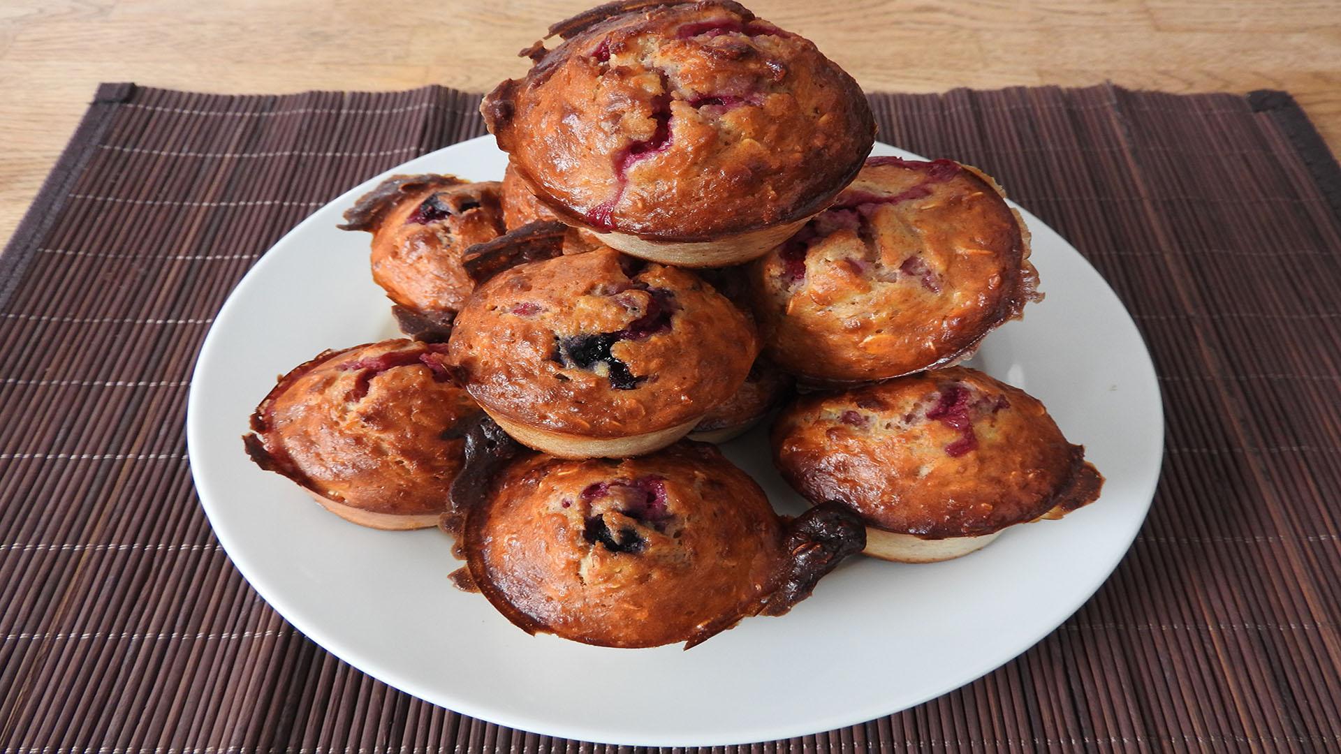 Protein-Muffins mit Fruchtfüllung auf Kochen-verstehen.de