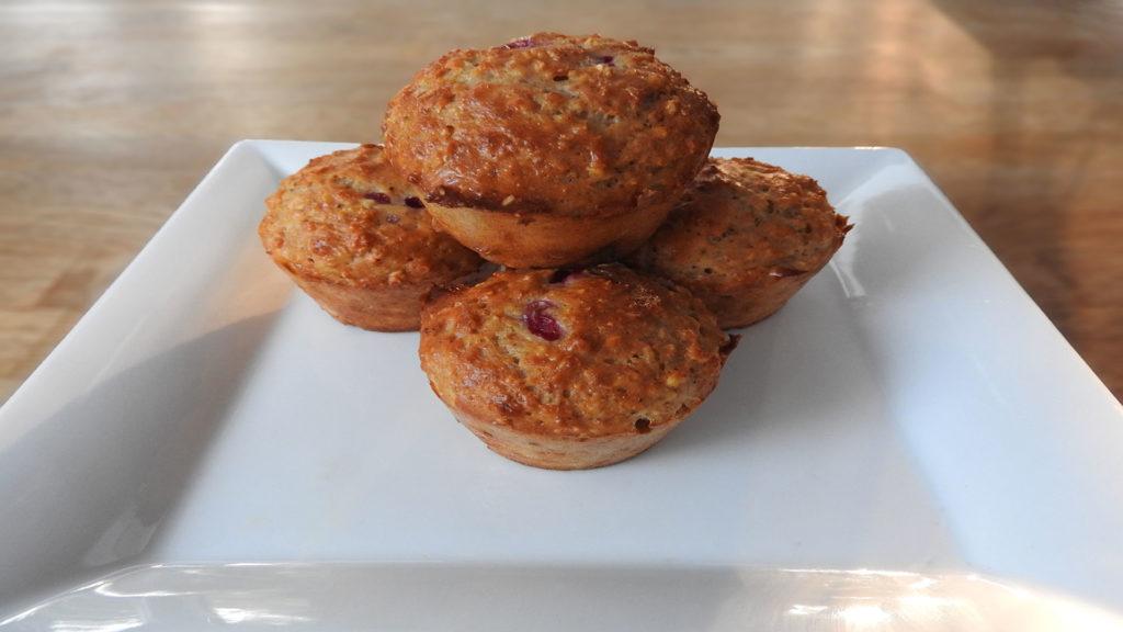 Protein-Muffins mit Himbeerfüllung auf Kochen-verstehen.de