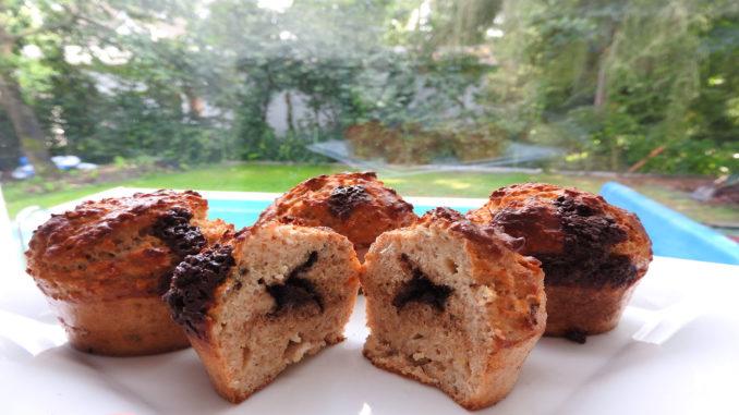 Protein-Muffins mit Schokofüllung auf Kochen-verstehen.de