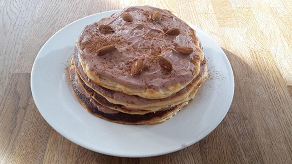 Protein-Pancakes mit Schokocreme (Rezept mit Bild) auf Kochen-verstehen.de