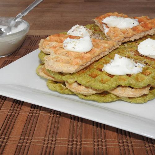 Protein-Waffelkuchen mit Quarkcreme auf Kochen-verstehen.de