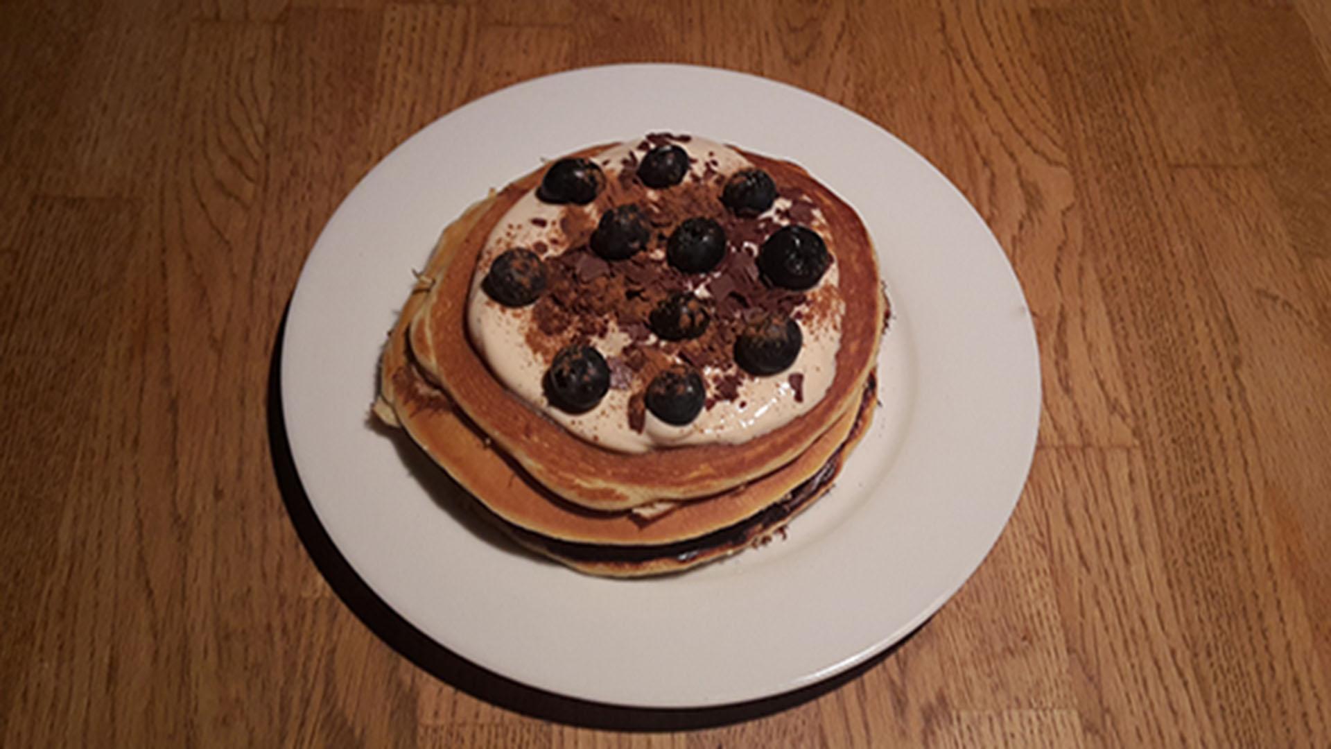 protein pancakes mit ka ra mell creme rezept mit bild kochen. Black Bedroom Furniture Sets. Home Design Ideas