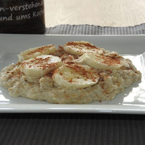 Protein Porridge mit Banane auf Kochen-verstehen.de