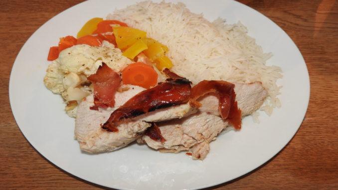 Putenfiletbraten mit Backgemüse und Reis auf Kochen-verstehen.de