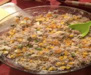 Reis-Salat mit Mais und Lauch