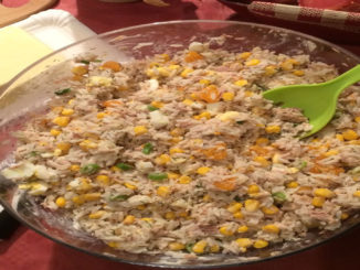 Reis-Salat mit Mais und Lauch auf Kochen-verstehen.de