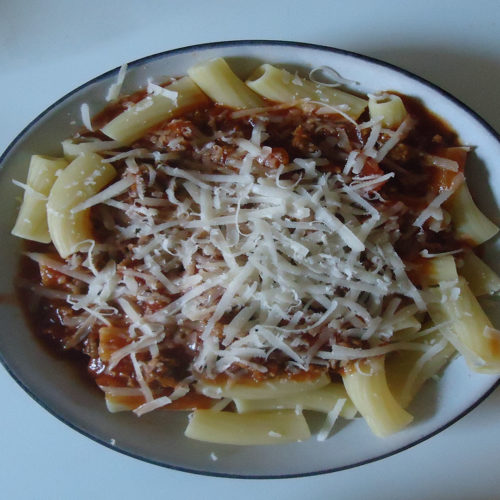Rigatoni mit Bolognese-Sauce (Rezept mit Bild) auf Kochen-verstehen.de