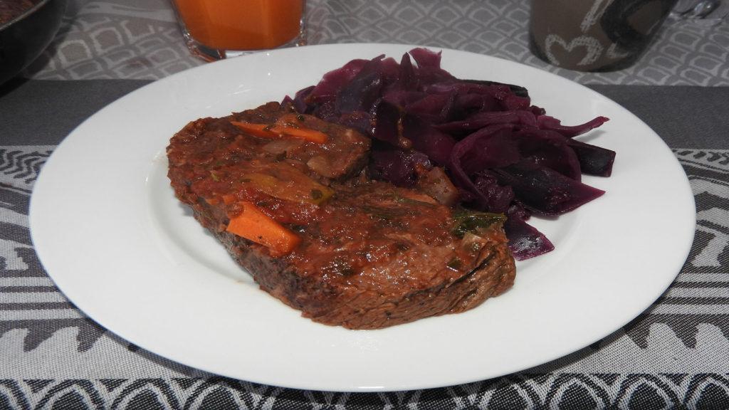 Rinderbraten mit Rotkohl auf Kochen-verstehen.de