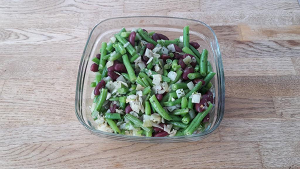 Rot-grüner Bohnensalat (Rezept mit Bild) auf Kochen-verstehen.de