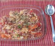 Rührei mit Schinken und Tomaten