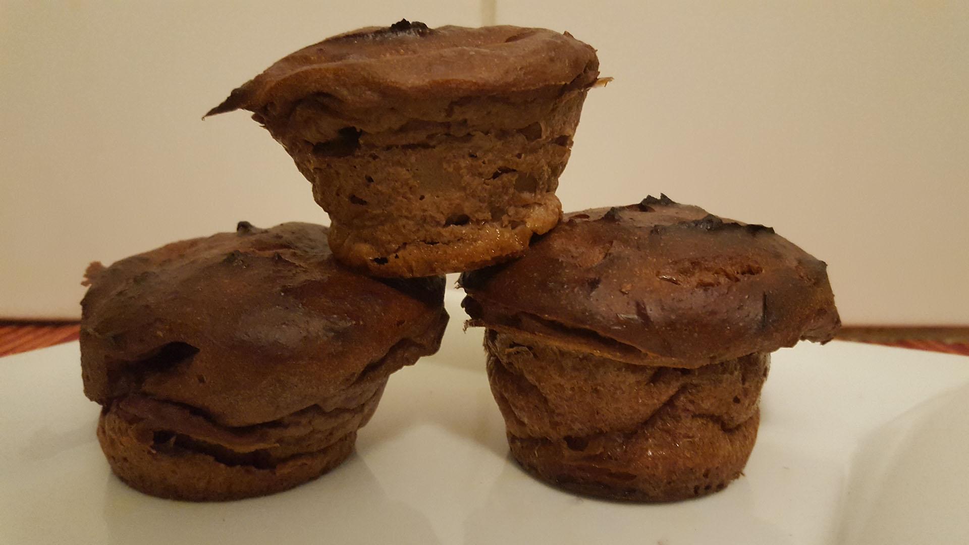Schoko-Muffins aus Magerquark