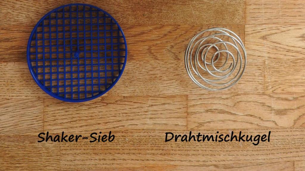 Shaker-Sieb oder Drahtmischkugel Vergleich auf Kochen-verstehen.de