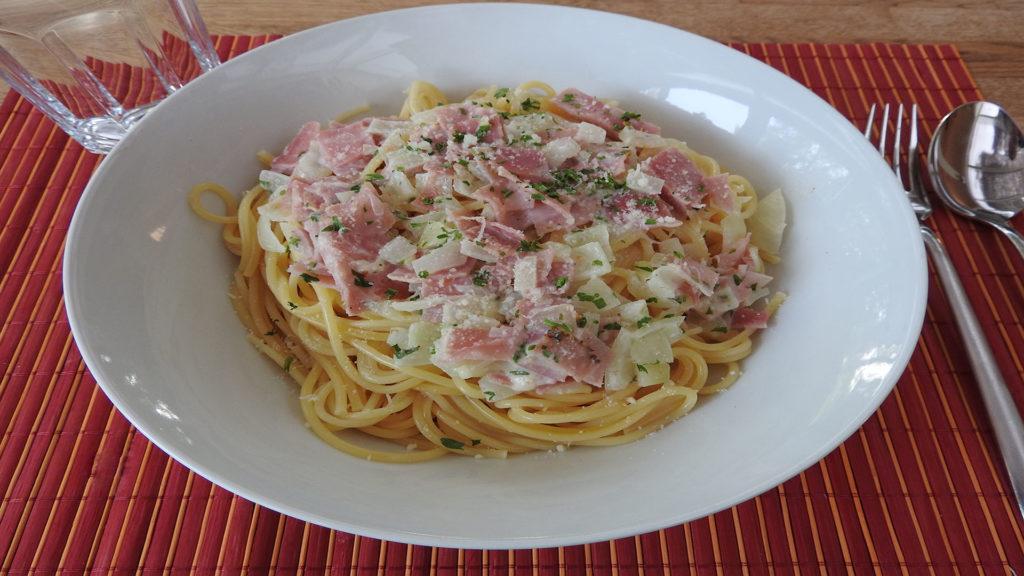 Spaghetti Carbonara (light) auf Kochen-verstehen.de